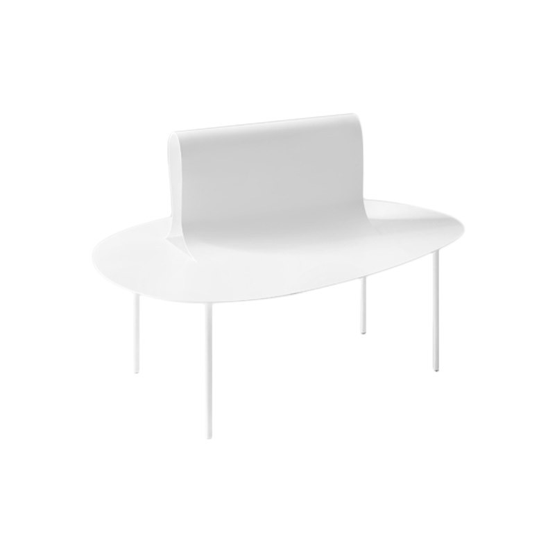 Desalto Softer than Steel Bench by Nendo Olson and Baker - Designer & Contemporary Sofas, Furniture - Olson and Baker showcases original designs from authentic, designer brands. Buy contemporary furniture, lighting, storage, sofas & chairs at Olson + Baker.
