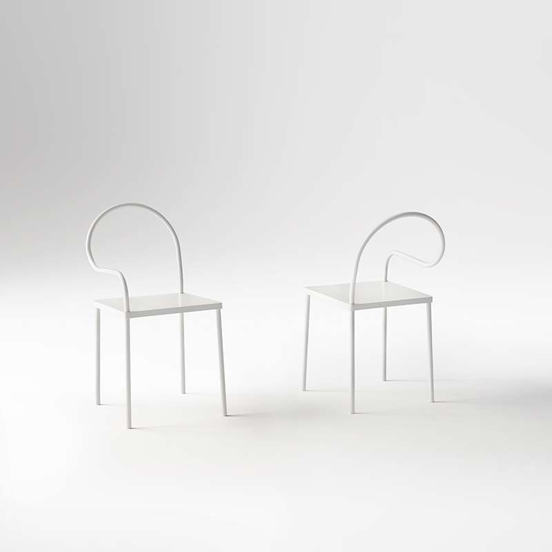 Desalto-Softer-than-Steel-Chair-by-Nendo-2 Olson and Baker - Designer & Contemporary Sofas, Furniture - Olson and Baker showcases original designs from authentic, designer brands. Buy contemporary furniture, lighting, storage, sofas & chairs at Olson + Baker.