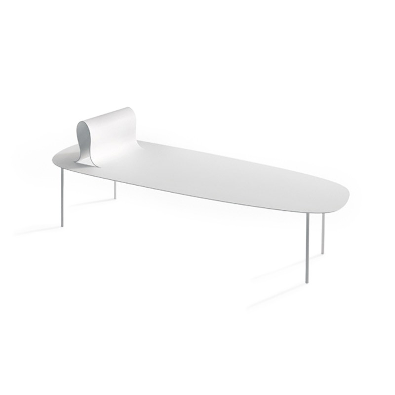 Desalto Softer than Steel Chaise by Nendo Olson and Baker - Designer & Contemporary Sofas, Furniture - Olson and Baker showcases original designs from authentic, designer brands. Buy contemporary furniture, lighting, storage, sofas & chairs at Olson + Baker.