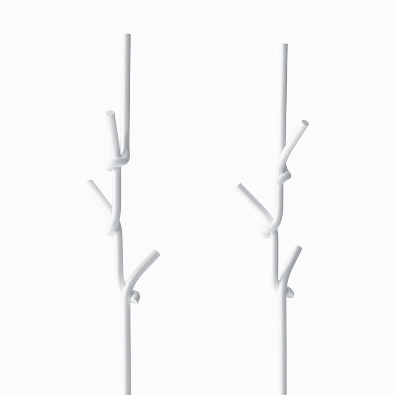 Desalto-Softer-than-Steel-Coat-Stand-by-Nendo-2 Olson and Baker - Designer & Contemporary Sofas, Furniture - Olson and Baker showcases original designs from authentic, designer brands. Buy contemporary furniture, lighting, storage, sofas & chairs at Olson + Baker.
