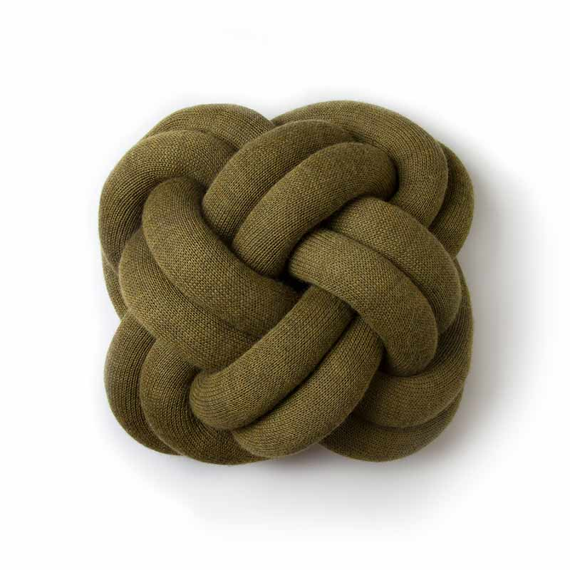Design House Stockholm Clearance - Knot Cushion - Green by Ragnheidur Osp Olson and Baker - Designer & Contemporary Sofas, Furniture - Olson and Baker showcases original designs from authentic, designer brands. Buy contemporary furniture, lighting, storage, sofas & chairs at Olson + Baker.