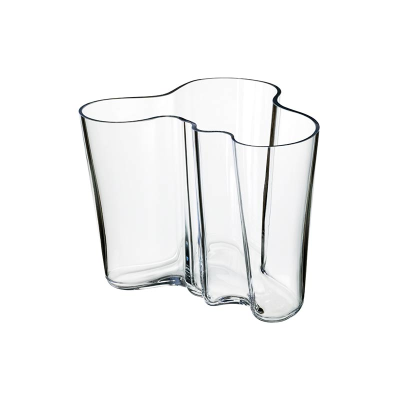 Iittala Aalto 160mm Glass Vase by Alvar Aalto Olson and Baker - Designer & Contemporary Sofas, Furniture - Olson and Baker showcases original designs from authentic, designer brands. Buy contemporary furniture, lighting, storage, sofas & chairs at Olson + Baker.