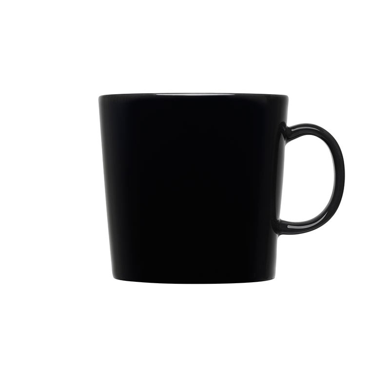Iittala Teema Black 0.4L Mug – Set of Six by Kaj Franck Olson and Baker - Designer & Contemporary Sofas, Furniture - Olson and Baker showcases original designs from authentic, designer brands. Buy contemporary furniture, lighting, storage, sofas & chairs at Olson + Baker.