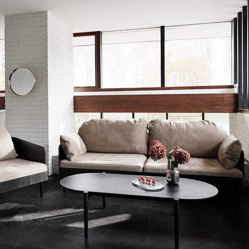 Menu-Septembre-Coffee-Table-in-Black-by-Theresa-Arns-1 Olson and Baker - Designer & Contemporary Sofas, Furniture - Olson and Baker showcases original designs from authentic, designer brands. Buy contemporary furniture, lighting, storage, sofas & chairs at Olson + Baker.