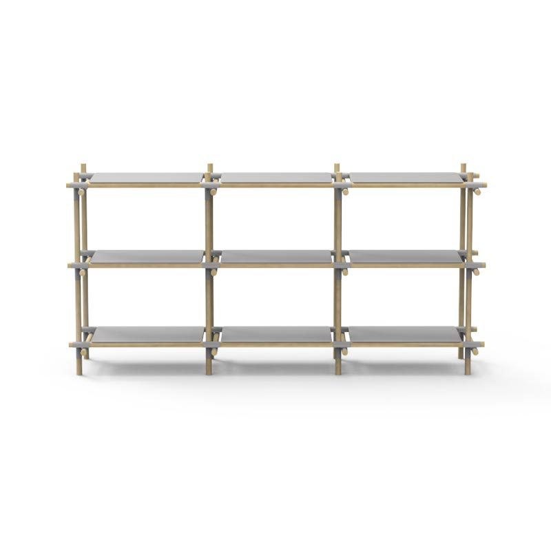 Menu Stick Wide Shelving System by Jan & Henry Olson and Baker - Designer & Contemporary Sofas, Furniture - Olson and Baker showcases original designs from authentic, designer brands. Buy contemporary furniture, lighting, storage, sofas & chairs at Olson + Baker.
