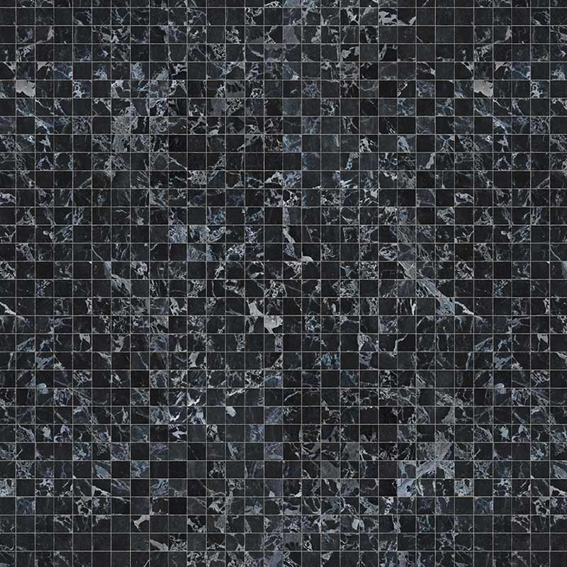 NLXL Black MarbleTiles 8.1x7.7cm Wallpaper by Piet Hein Eek Olson and Baker - Designer & Contemporary Sofas, Furniture - Olson and Baker showcases original designs from authentic, designer brands. Buy contemporary furniture, lighting, storage, sofas & chairs at Olson + Baker.