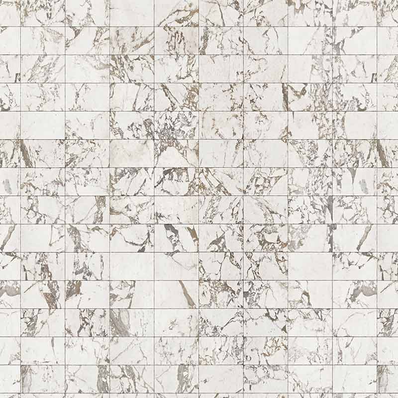 NLXL White Marble Tiles 24.4x15.4cm Wallpaper by Piet Hein Eek Olson and Baker - Designer & Contemporary Sofas, Furniture - Olson and Baker showcases original designs from authentic, designer brands. Buy contemporary furniture, lighting, storage, sofas & chairs at Olson + Baker.