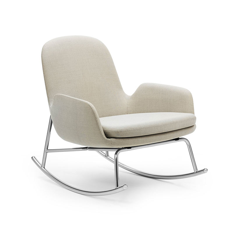 Normann Copenhagen Era Rocking Chair Low by Simon Legald Olson and Baker - Designer & Contemporary Sofas, Furniture - Olson and Baker showcases original designs from authentic, designer brands. Buy contemporary furniture, lighting, storage, sofas & chairs at Olson + Baker.