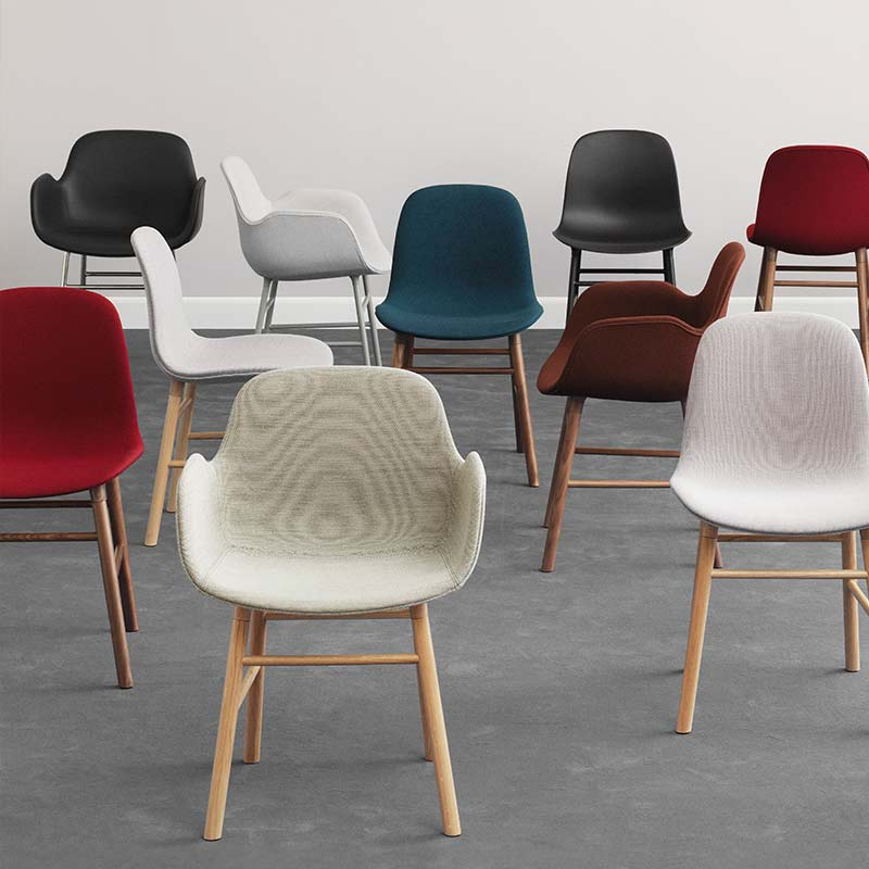 Normann-Copenhagen-Form-Armchair-with-Full-Upholstery-by-Simon-Legald-1 Olson and Baker - Designer & Contemporary Sofas, Furniture - Olson and Baker showcases original designs from authentic, designer brands. Buy contemporary furniture, lighting, storage, sofas & chairs at Olson + Baker.