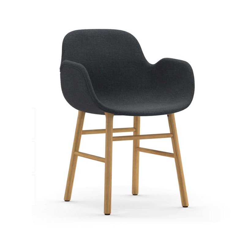 Normann Copenhagen Form Fully Upholstered Armchair by Simon Legald Olson and Baker - Designer & Contemporary Sofas, Furniture - Olson and Baker showcases original designs from authentic, designer brands. Buy contemporary furniture, lighting, storage, sofas & chairs at Olson + Baker.