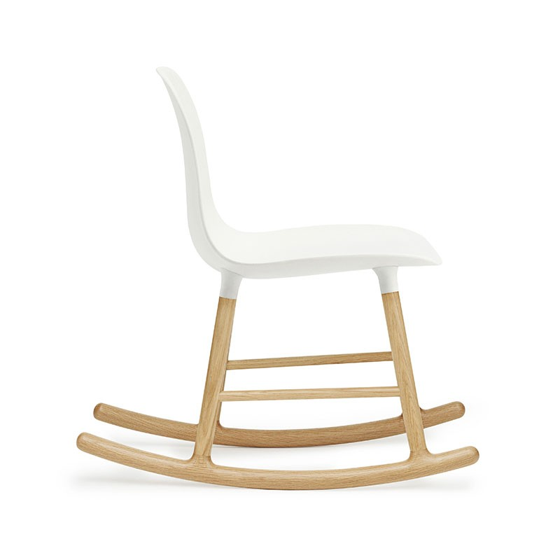 Normann-Copenhagen-Form-Rocking-Chair-by-Simon-Legald-2 Olson and Baker - Designer & Contemporary Sofas, Furniture - Olson and Baker showcases original designs from authentic, designer brands. Buy contemporary furniture, lighting, storage, sofas & chairs at Olson + Baker.
