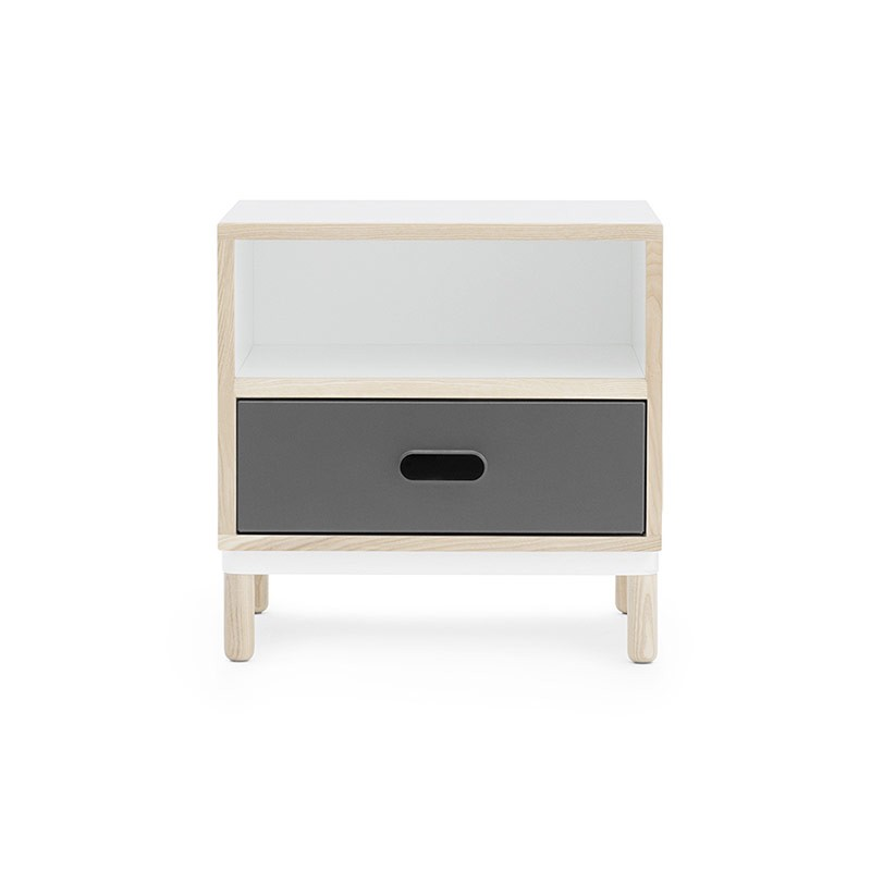 Normann Copenhagen Kabino Bedside Table by Simon Legald Olson and Baker - Designer & Contemporary Sofas, Furniture - Olson and Baker showcases original designs from authentic, designer brands. Buy contemporary furniture, lighting, storage, sofas & chairs at Olson + Baker.