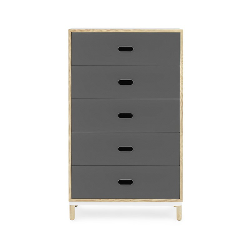 Normann Copenhagen Kabino Five Drawer Dresser by Simon Legald Olson and Baker - Designer & Contemporary Sofas, Furniture - Olson and Baker showcases original designs from authentic, designer brands. Buy contemporary furniture, lighting, storage, sofas & chairs at Olson + Baker.