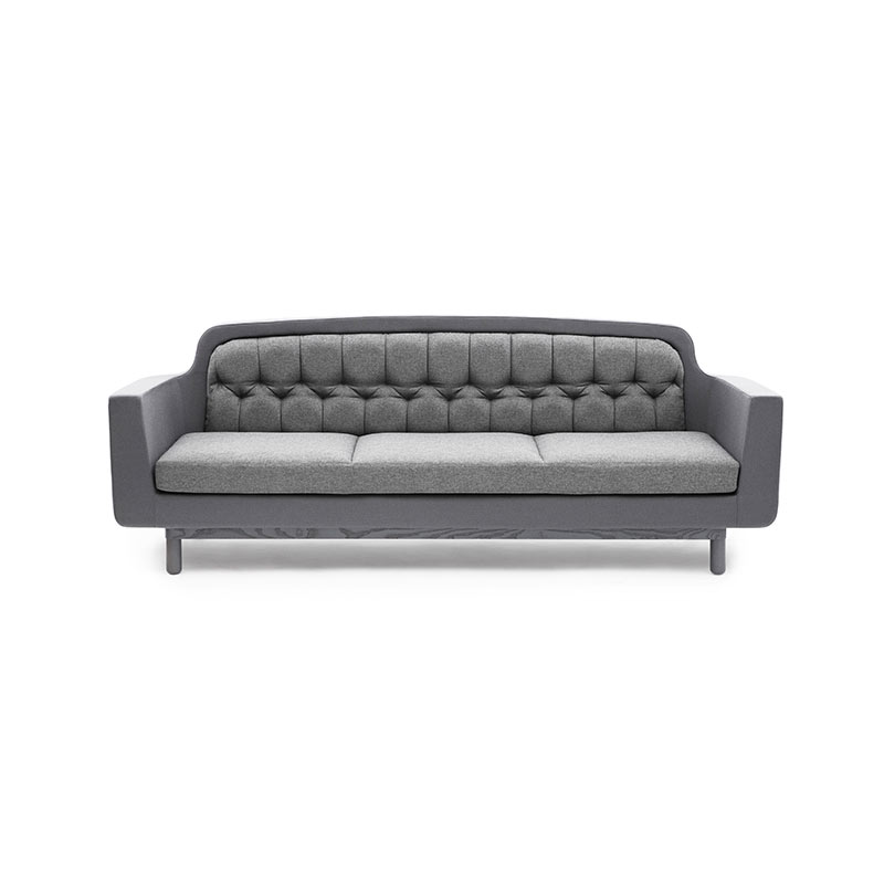 Normann Copenhagen Onkel Three Seat Sofa with Oak Base by Simon Legald Olson and Baker - Designer & Contemporary Sofas, Furniture - Olson and Baker showcases original designs from authentic, designer brands. Buy contemporary furniture, lighting, storage, sofas & chairs at Olson + Baker.