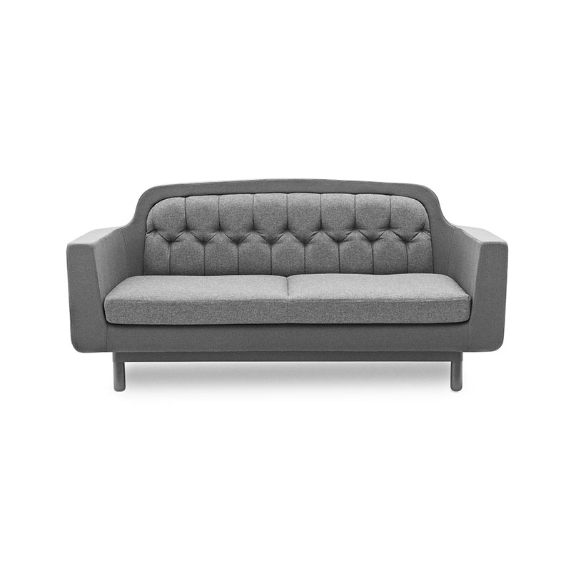 Normann Copenhagen Onkel Two Seat Sofa with Oak Base by Simon Legald Olson and Baker - Designer & Contemporary Sofas, Furniture - Olson and Baker showcases original designs from authentic, designer brands. Buy contemporary furniture, lighting, storage, sofas & chairs at Olson + Baker.