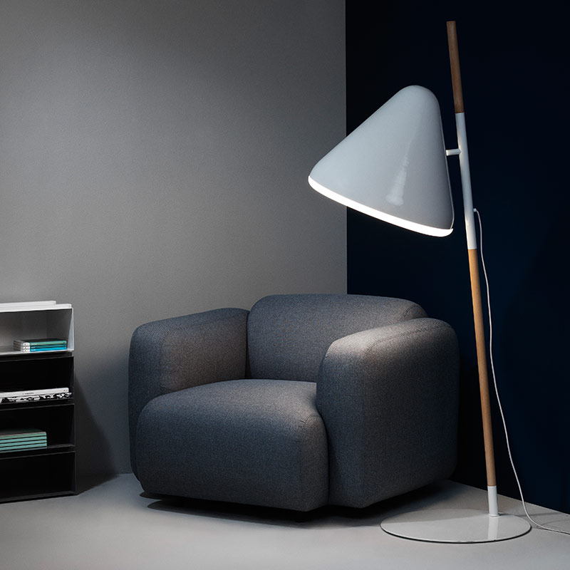 Normann-Copenhagen-Swell-Armchair-by-Jonas-Wagell-1 Olson and Baker - Designer & Contemporary Sofas, Furniture - Olson and Baker showcases original designs from authentic, designer brands. Buy contemporary furniture, lighting, storage, sofas & chairs at Olson + Baker.