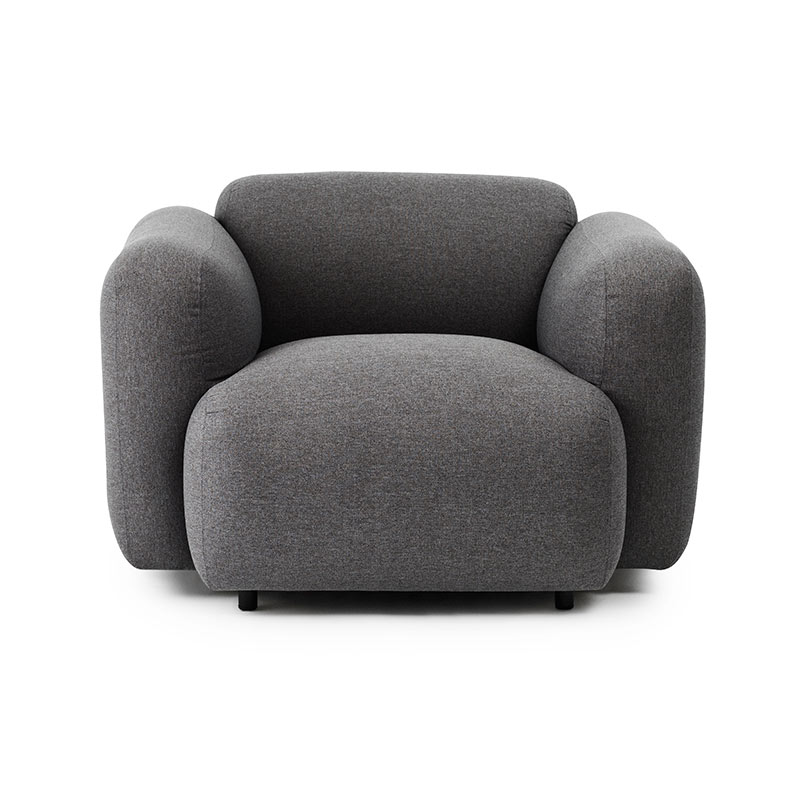 Normann Copenhagen Swell Armchair by Jonas Wagell Olson and Baker - Designer & Contemporary Sofas, Furniture - Olson and Baker showcases original designs from authentic, designer brands. Buy contemporary furniture, lighting, storage, sofas & chairs at Olson + Baker.