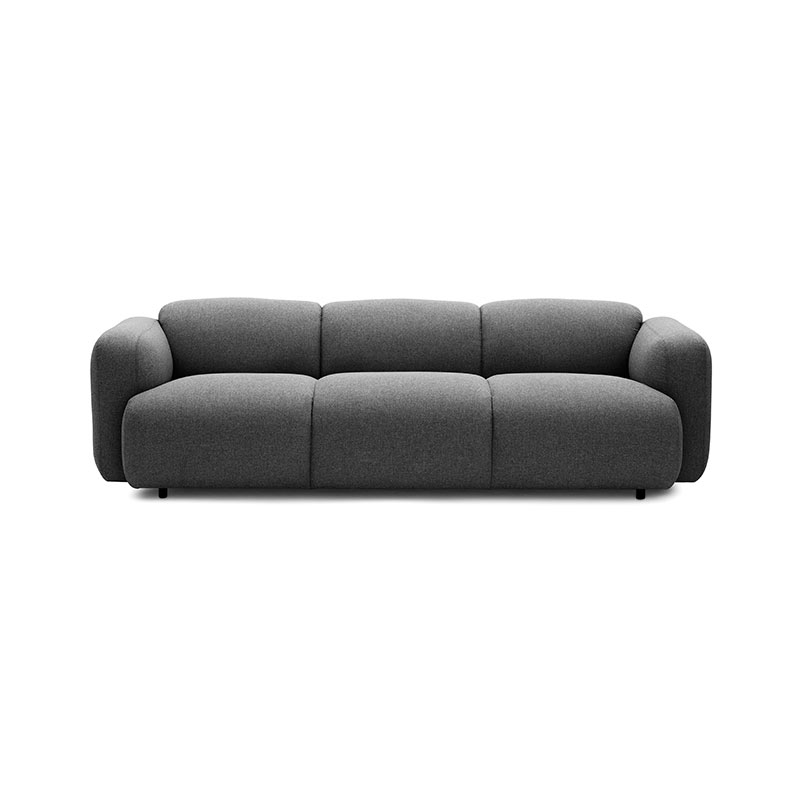 Normann Copenhagen Swell Three Seat Sofa by Jonas Wagell Olson and Baker - Designer & Contemporary Sofas, Furniture - Olson and Baker showcases original designs from authentic, designer brands. Buy contemporary furniture, lighting, storage, sofas & chairs at Olson + Baker.