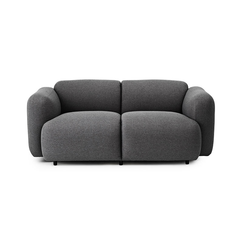 Normann Copenhagen Swell Two Seat Sofa by Jonas Wagell Olson and Baker - Designer & Contemporary Sofas, Furniture - Olson and Baker showcases original designs from authentic, designer brands. Buy contemporary furniture, lighting, storage, sofas & chairs at Olson + Baker.