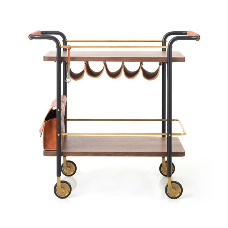 Stellar Works Valet Bar Cart by David Rockwell Olson and Baker - Designer & Contemporary Sofas, Furniture - Olson and Baker showcases original designs from authentic, designer brands. Buy contemporary furniture, lighting, storage, sofas & chairs at Olson + Baker.