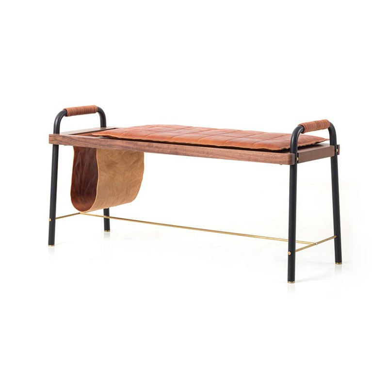 Stellar Works Valet Seated Bench by David Rockwell Olson and Baker - Designer & Contemporary Sofas, Furniture - Olson and Baker showcases original designs from authentic, designer brands. Buy contemporary furniture, lighting, storage, sofas & chairs at Olson + Baker.