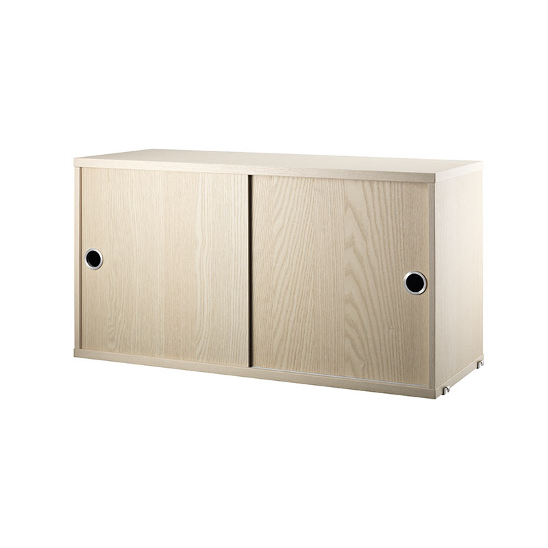 String Cabinet with Sliding Doors by Nils Strinning