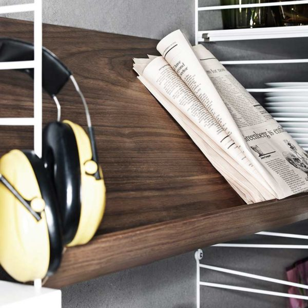 Wooden 58x30cm Magazine Shelf