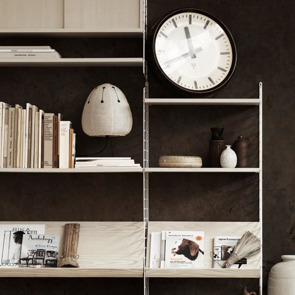 Wooden 78x30cm Magazine Shelf