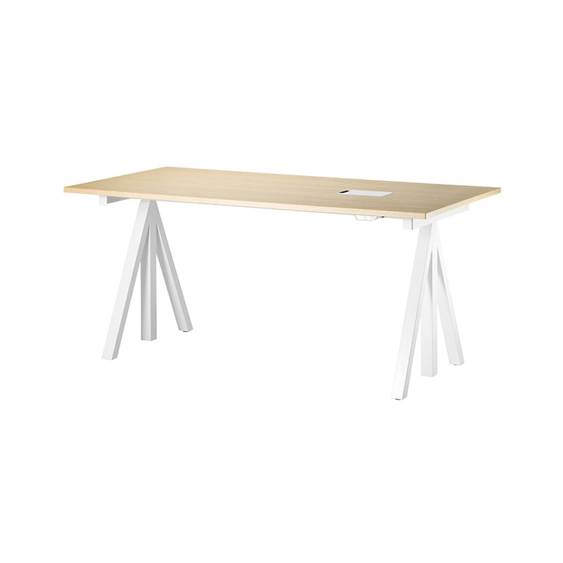 String Works 140x78cm Desk by Nils Strinning Olson and Baker - Designer & Contemporary Sofas, Furniture - Olson and Baker showcases original designs from authentic, designer brands. Buy contemporary furniture, lighting, storage, sofas & chairs at Olson + Baker.