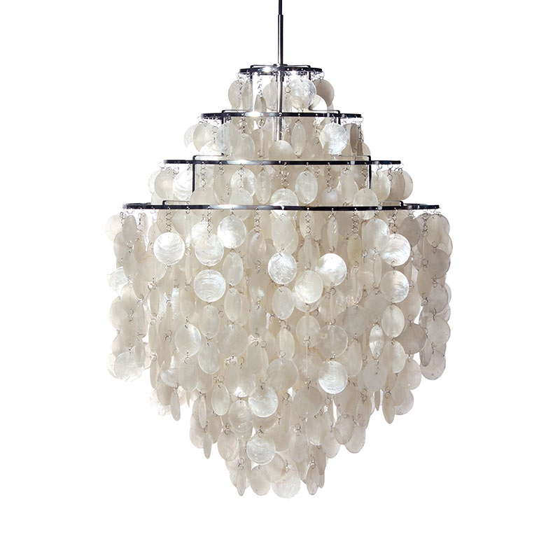Verpan Fun 0DM Pendant Light by Verner Panton Olson and Baker - Designer & Contemporary Sofas, Furniture - Olson and Baker showcases original designs from authentic, designer brands. Buy contemporary furniture, lighting, storage, sofas & chairs at Olson + Baker.