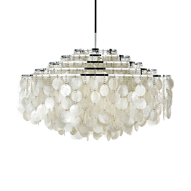 Verpan Fun 11DM Pendant Light by Verner Panton Olson and Baker - Designer & Contemporary Sofas, Furniture - Olson and Baker showcases original designs from authentic, designer brands. Buy contemporary furniture, lighting, storage, sofas & chairs at Olson + Baker.