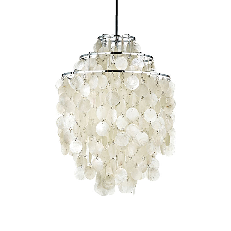 Verpan Fun 1DM Pendant Light by Verner Panton Olson and Baker - Designer & Contemporary Sofas, Furniture - Olson and Baker showcases original designs from authentic, designer brands. Buy contemporary furniture, lighting, storage, sofas & chairs at Olson + Baker.