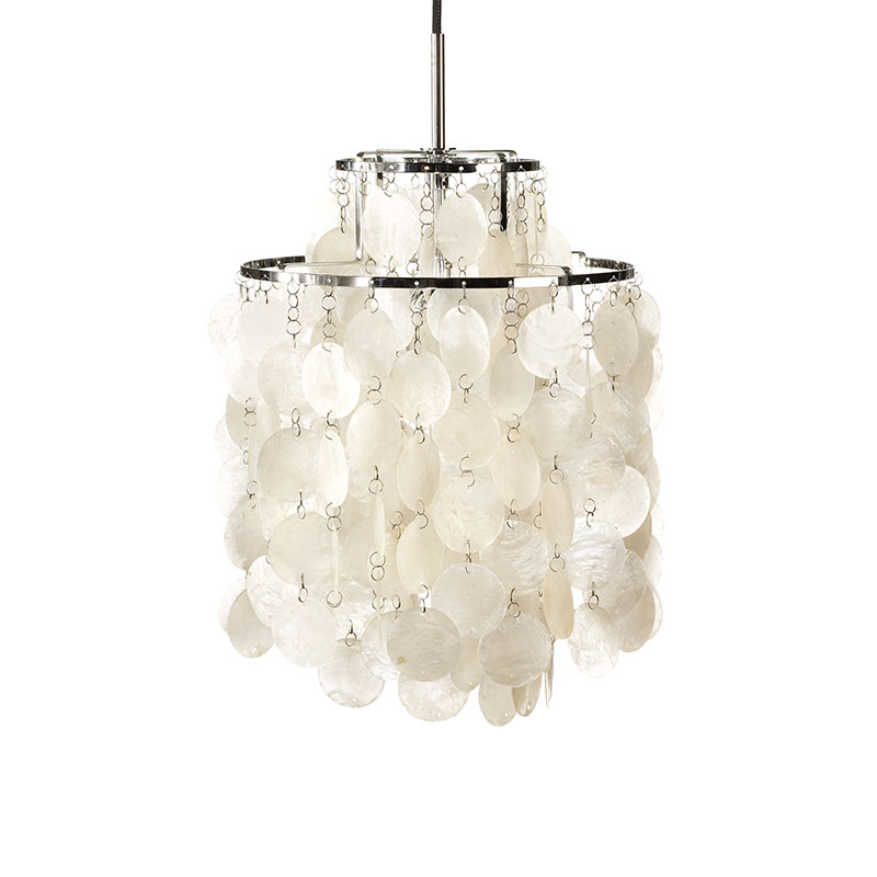 Verpan Fun 2DM Pendant Light by Verner Panton Olson and Baker - Designer & Contemporary Sofas, Furniture - Olson and Baker showcases original designs from authentic, designer brands. Buy contemporary furniture, lighting, storage, sofas & chairs at Olson + Baker.