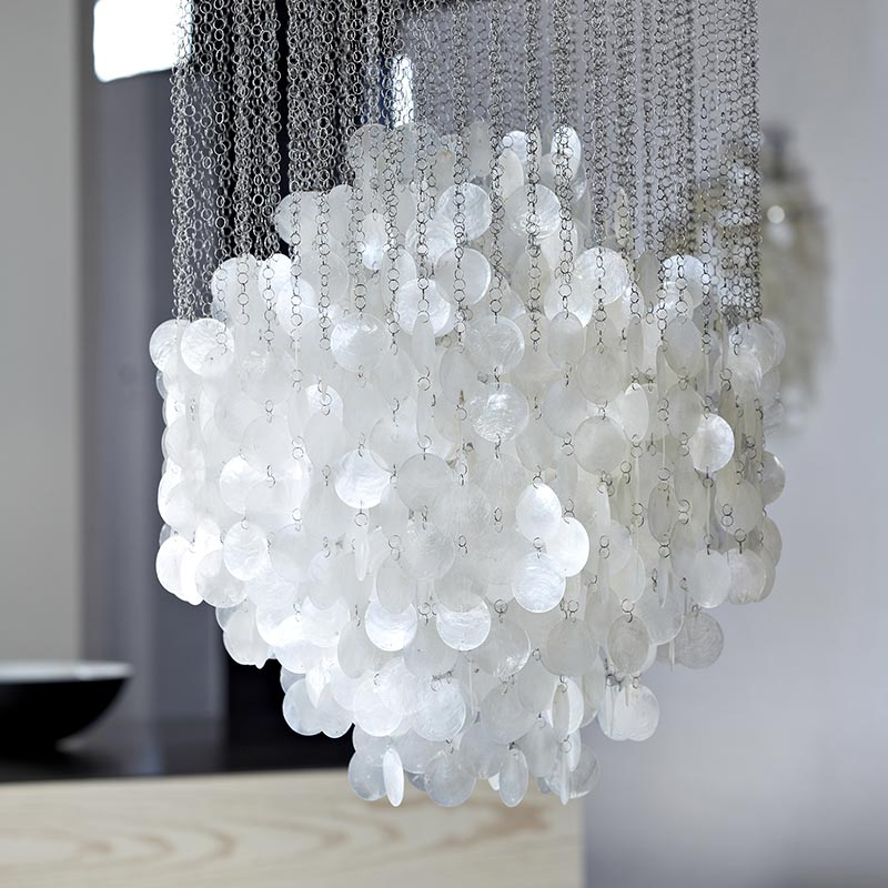 Verpan-Fun-4DM-Chandelier-by-Verner-Panton-1 Olson and Baker - Designer & Contemporary Sofas, Furniture - Olson and Baker showcases original designs from authentic, designer brands. Buy contemporary furniture, lighting, storage, sofas & chairs at Olson + Baker.