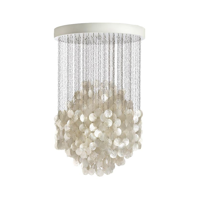 Verpan Fun 4DM Chandelier by Verner Panton Olson and Baker - Designer & Contemporary Sofas, Furniture - Olson and Baker showcases original designs from authentic, designer brands. Buy contemporary furniture, lighting, storage, sofas & chairs at Olson + Baker.