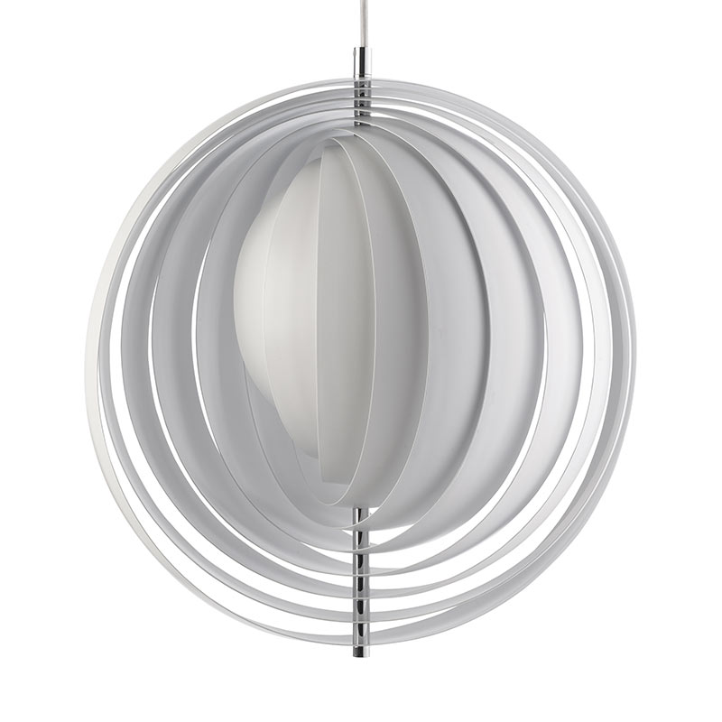 Verpan Moon XXXL Chandelier by Verner Panton Olson and Baker - Designer & Contemporary Sofas, Furniture - Olson and Baker showcases original designs from authentic, designer brands. Buy contemporary furniture, lighting, storage, sofas & chairs at Olson + Baker.