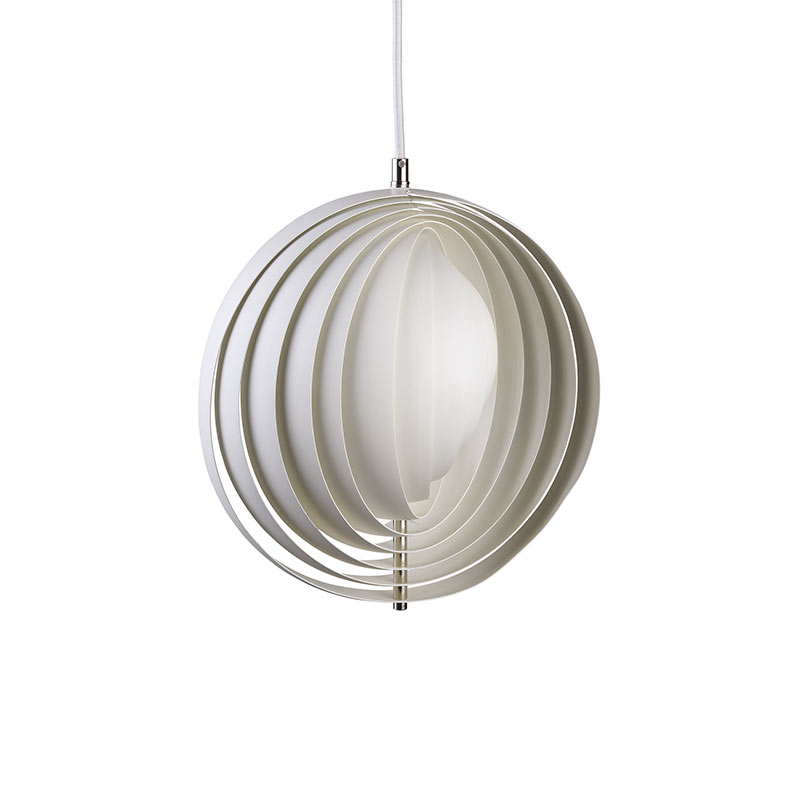 Verpan Moon Pendant Light by Verner Panton Olson and Baker - Designer & Contemporary Sofas, Furniture - Olson and Baker showcases original designs from authentic, designer brands. Buy contemporary furniture, lighting, storage, sofas & chairs at Olson + Baker.