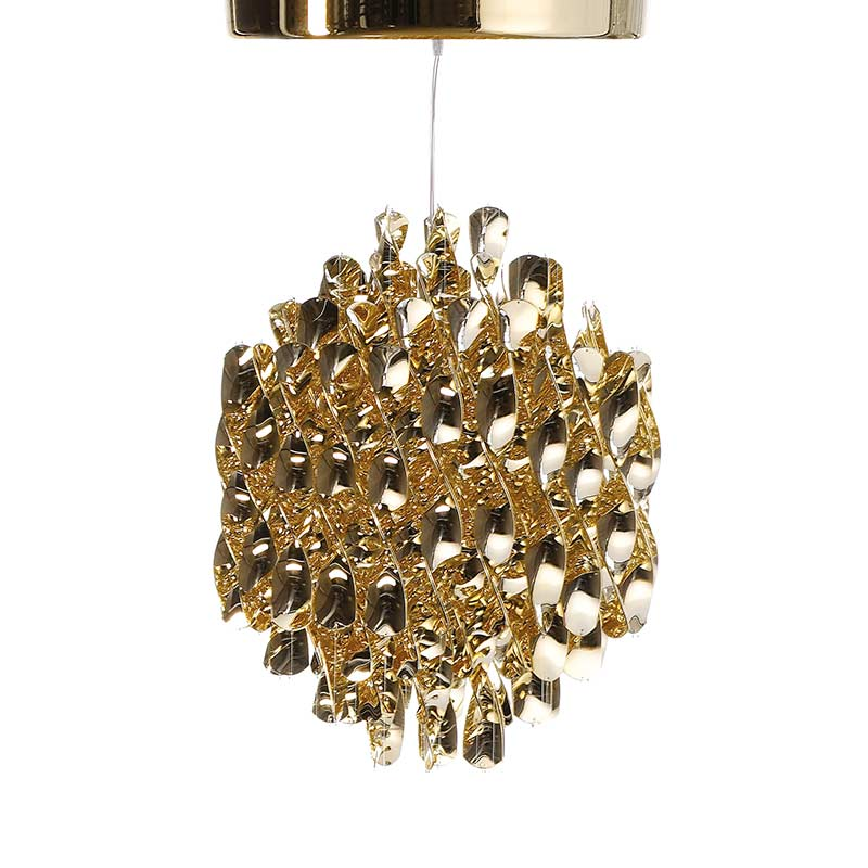 Verpan Spiral SP1 Chandelier in Brass by Verner Panton Olson and Baker - Designer & Contemporary Sofas, Furniture - Olson and Baker showcases original designs from authentic, designer brands. Buy contemporary furniture, lighting, storage, sofas & chairs at Olson + Baker.