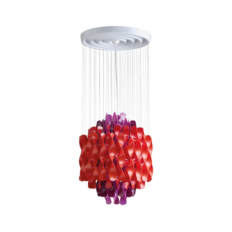 Verpan Spiral SP1 Chandelier by Verner Panton Olson and Baker - Designer & Contemporary Sofas, Furniture - Olson and Baker showcases original designs from authentic, designer brands. Buy contemporary furniture, lighting, storage, sofas & chairs at Olson + Baker.