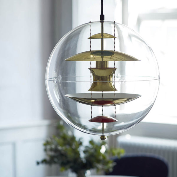 VP Globe Brass Pendant Light