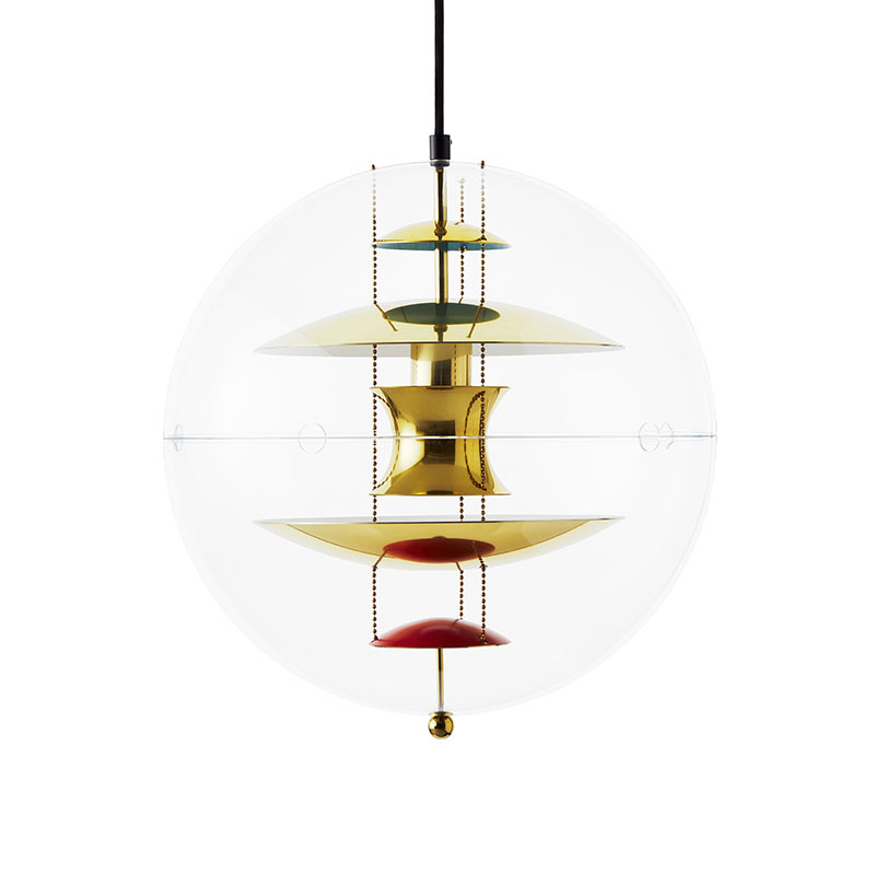 Verpan VP Globe Brass Pendant Light by Verner Panton Olson and Baker - Designer & Contemporary Sofas, Furniture - Olson and Baker showcases original designs from authentic, designer brands. Buy contemporary furniture, lighting, storage, sofas & chairs at Olson + Baker.