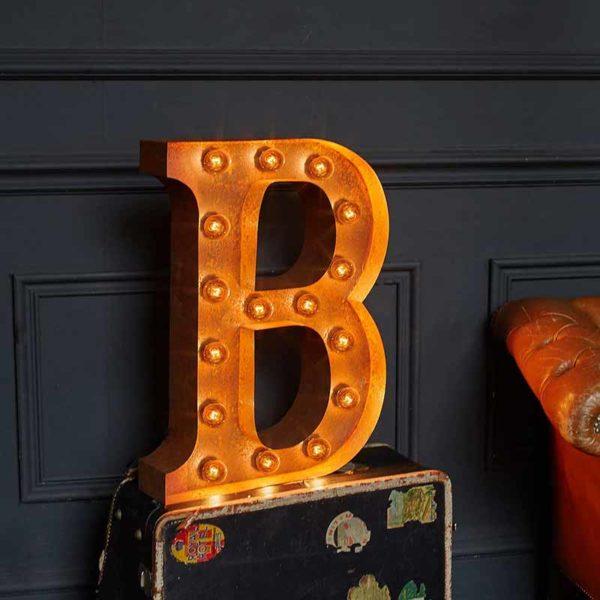 Vintage Letter Light B