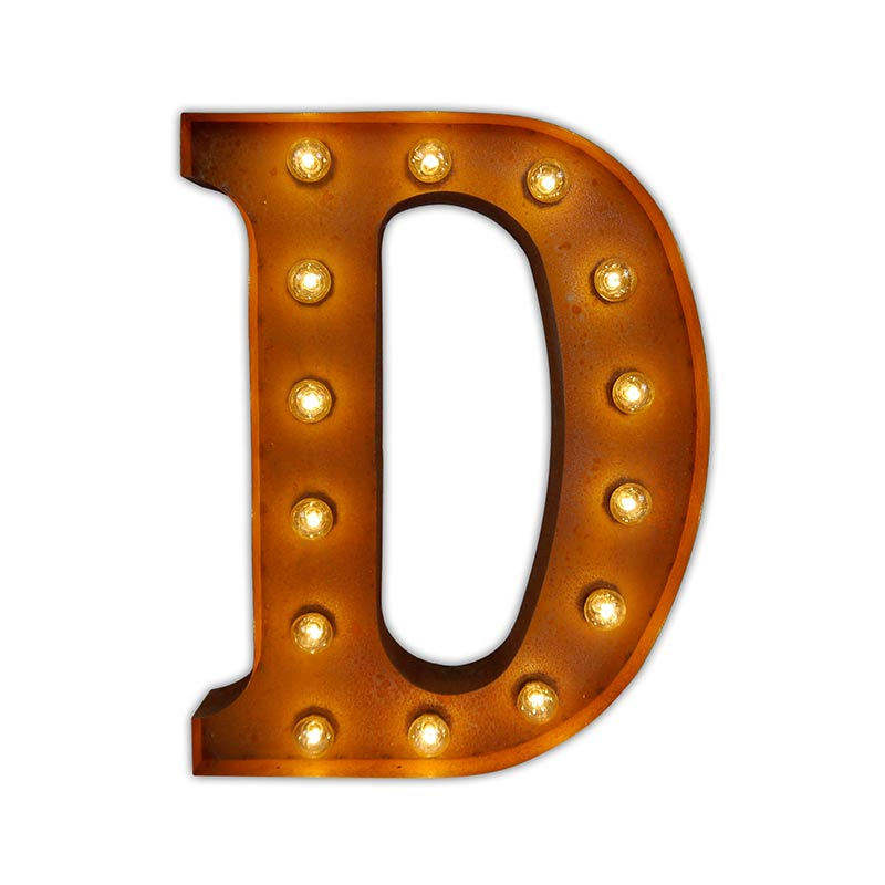 Vintage Letter Lights Vintage Letter Light D by Vintage Letter Lights