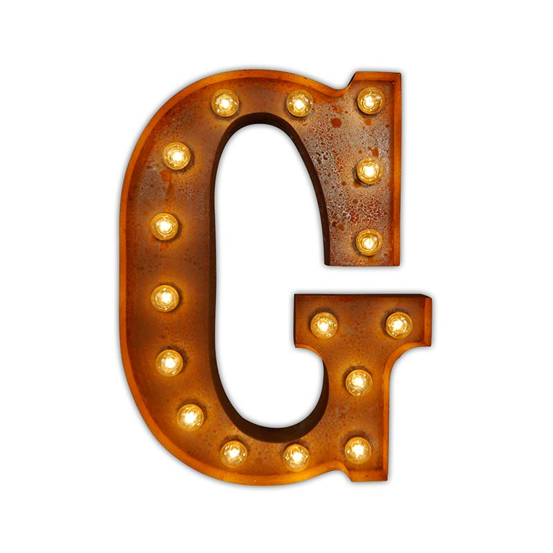 Vintage Letter Lights Vintage Letter Light G by Vintage Letter Lights
