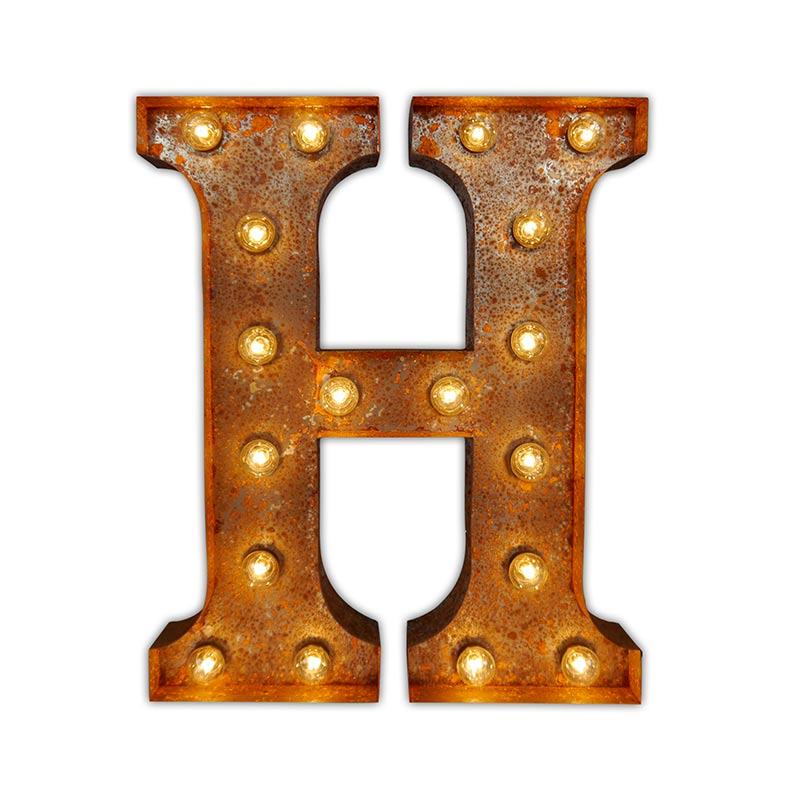 Vintage Letter Lights Vintage Letter Light H by Vintage Letter Lights Olson and Baker - Designer & Contemporary Sofas, Furniture - Olson and Baker showcases original designs from authentic, designer brands. Buy contemporary furniture, lighting, storage, sofas & chairs at Olson + Baker.