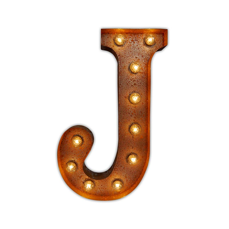 Vintage Letter Lights Vintage Letter Light J by Vintage Letter Lights Olson and Baker - Designer & Contemporary Sofas, Furniture - Olson and Baker showcases original designs from authentic, designer brands. Buy contemporary furniture, lighting, storage, sofas & chairs at Olson + Baker.