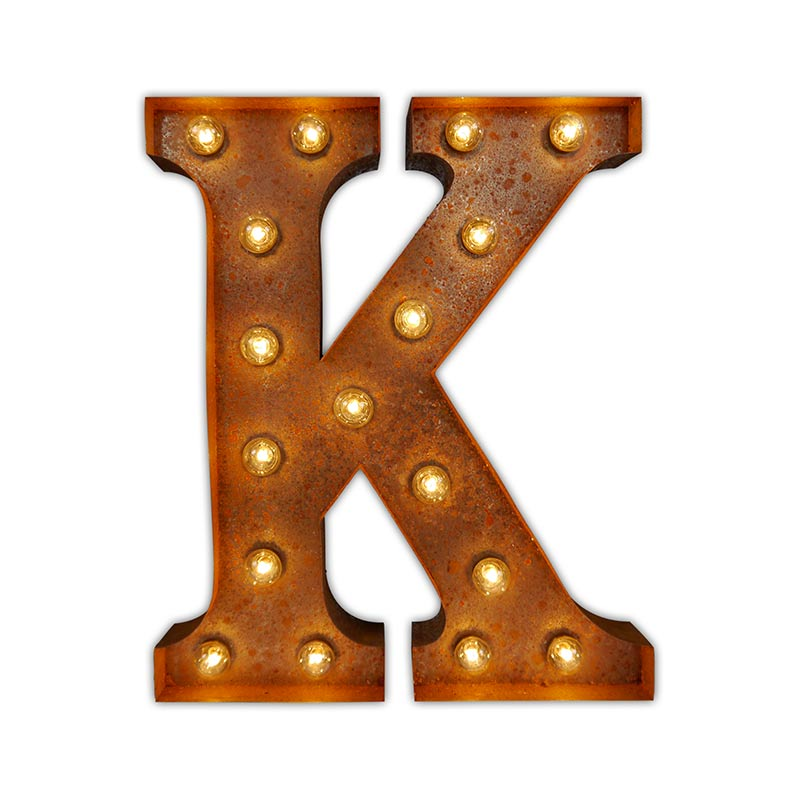Vintage Letter Lights Vintage Letter Light K by Vintage Letter Lights