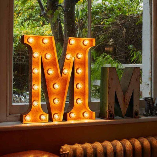 Vintage Letter Light M