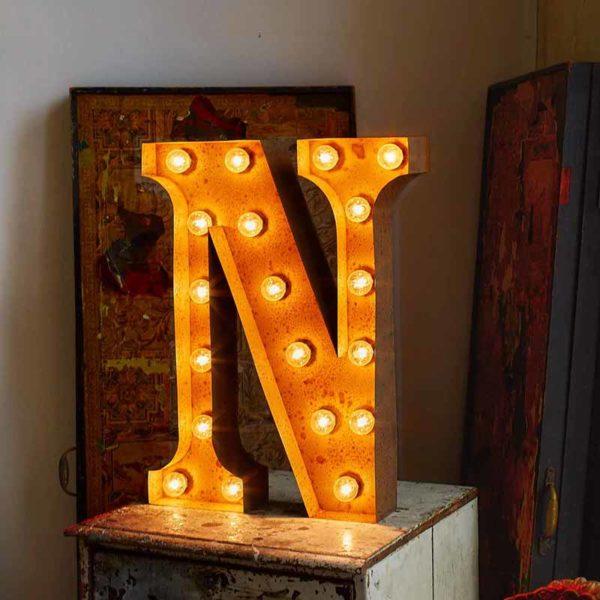 Vintage Letter Light N