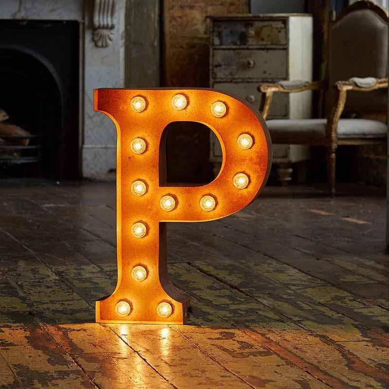 Vintage-Letter-Lights-Vintage-Letter-Light-P-by-Vintage-Letter-Lights-1 Olson and Baker - Designer & Contemporary Sofas, Furniture - Olson and Baker showcases original designs from authentic, designer brands. Buy contemporary furniture, lighting, storage, sofas & chairs at Olson + Baker.